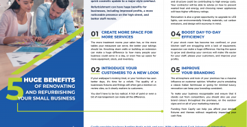 Infographic: 5 Huge Benefits of Renovating and Refurbishing Your Small Business