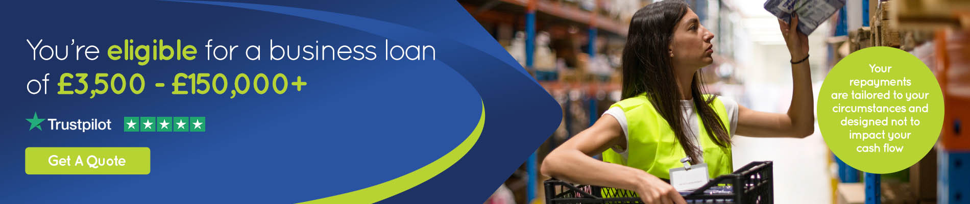 Finally, an alternative business loan that's quick and easy.
