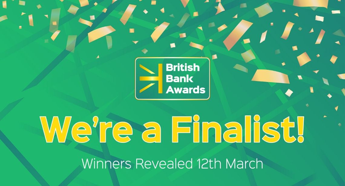 We're a Finalist in the British Bank Awards 2020