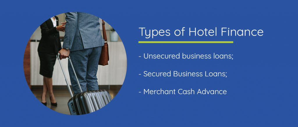 Different types of hotel finance