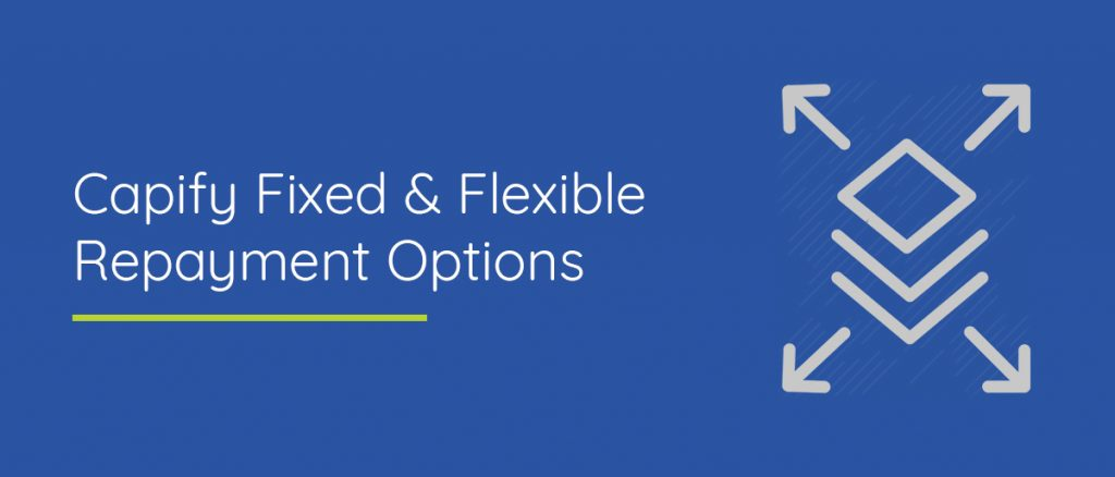 Fixed & flexible repayment options