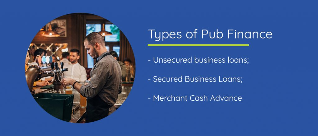 Different types of pub finance