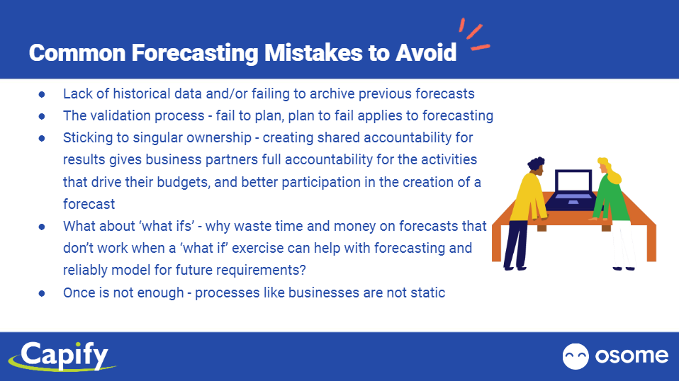 Common Forecasting Mistakes to Avoid